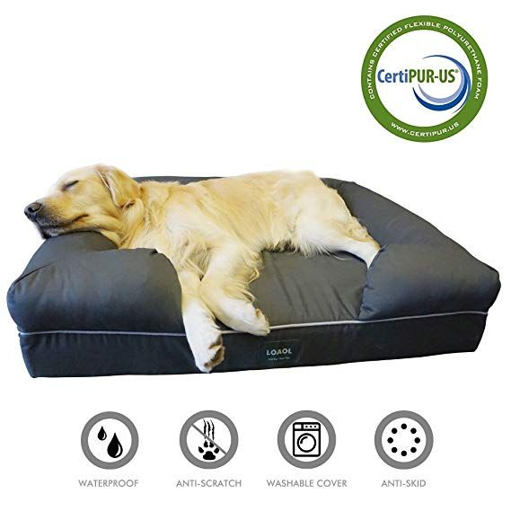 Loaol 4 Durable Waterproof Memory Foam Pet Bed Mattress Orthopedic Dog Sofa Couch With Changeable Cover Pet Sofa Memory Foam Pet Bed Dog Sofa