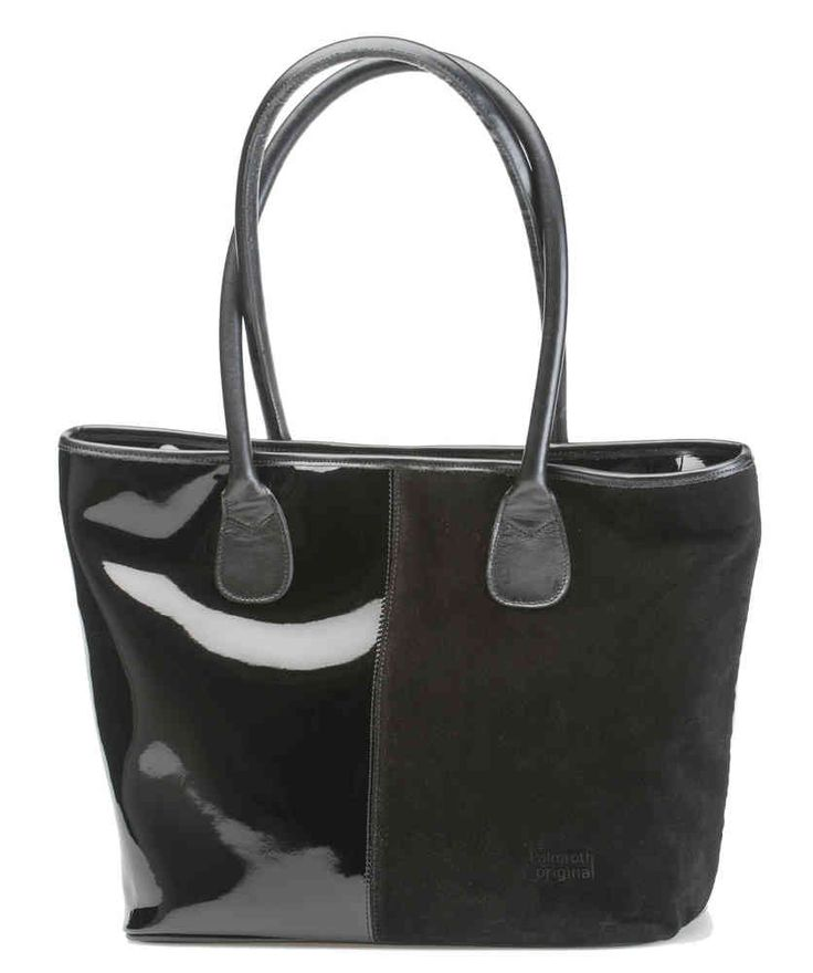 Palmroth bag black suede/patent