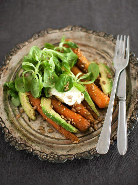 Kuinka ihanaa voi kasvis olla: Porkkana-avokadosalaatti