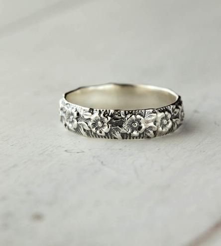 Sterling Silver Flower Band by 36ten on Scoutmob Shoppe
