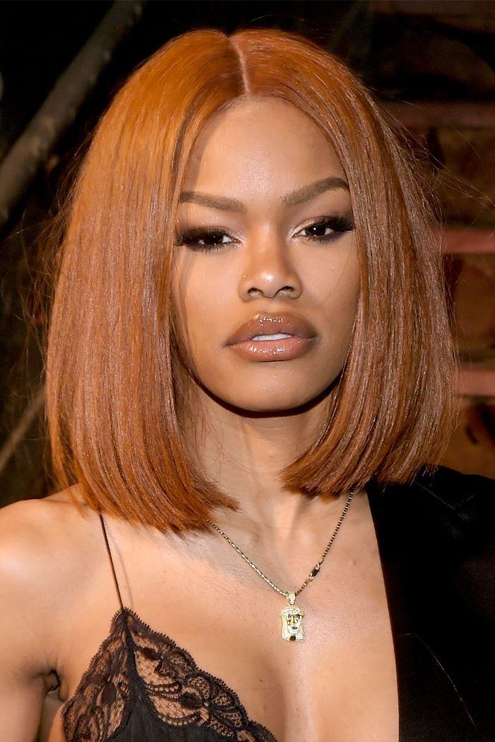 10 Stunning Hair Colors For Darker Skin Tones Hair Color For Dark Skin Natural Hair Styles Hair Color For Brown Skin