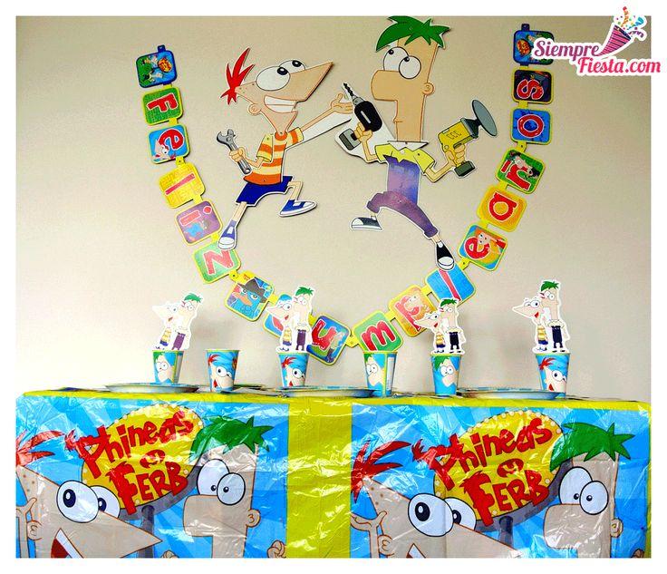 Increíbles artículos para una fiesta de cumpleaños de Phineas y Ferb. Encuentra todos los artículos para tu fiesta en nuestra tienda en línea: http://www.siemprefiesta.com/fiestas-infantiles/ninos/articulos-phineas-y-ferb.html?utm_source=Pinterest&utm_medium=Pin&utm_campaign=Phineas