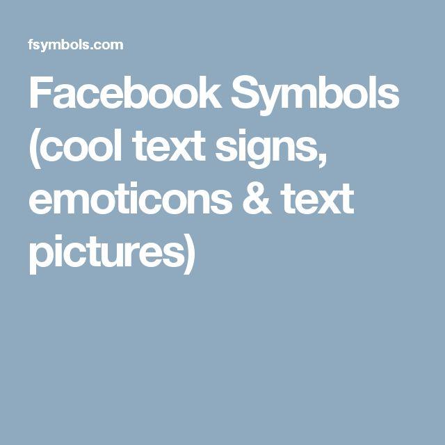 Facebook text emoticon