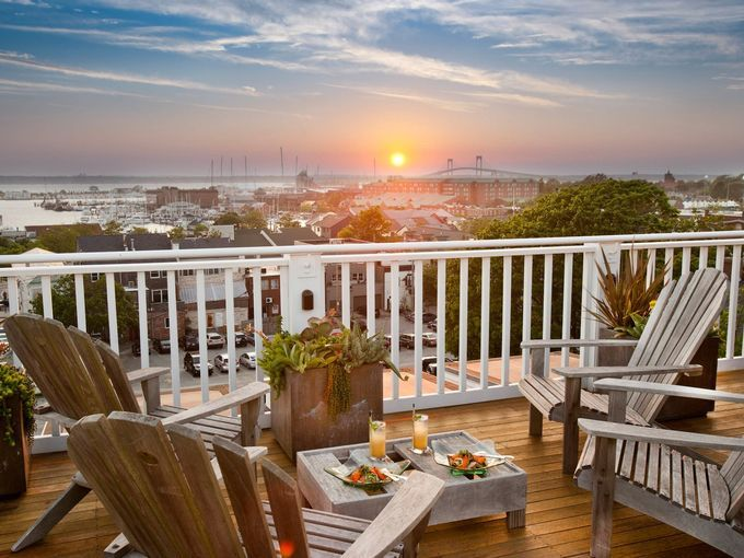 For the ultimate romantic getaway in Newport, book a room at the intimate Vanderbilt Grace, a boutique hotel located just minutes from the Newport waterfront.