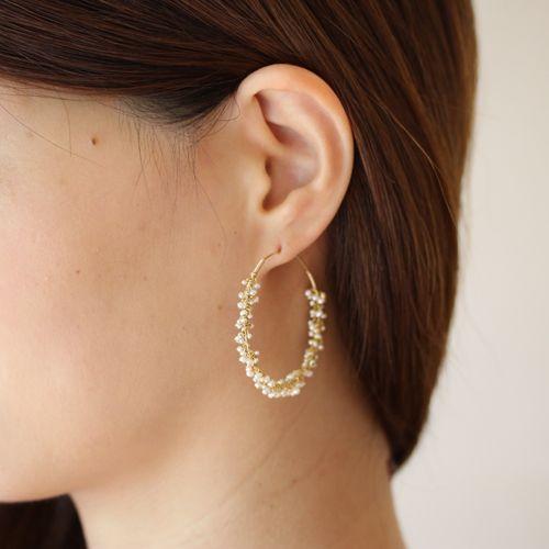 shirotsumekusa pierce - asumi bijoux
