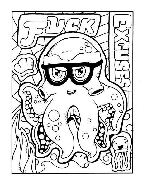 Octopus Adult Coloring Page Swear Get 14 Free Printable