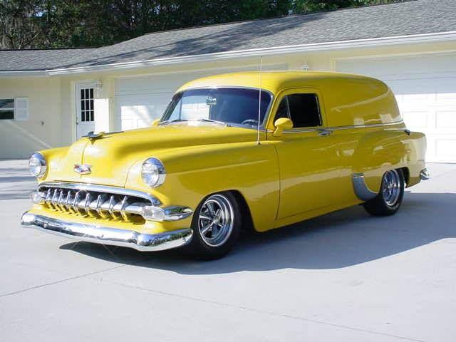 """1954 Chevrolet Nomad """"Sedan Delivery"""" 2-DR 350-400hp V8 Corvette Yellow"""