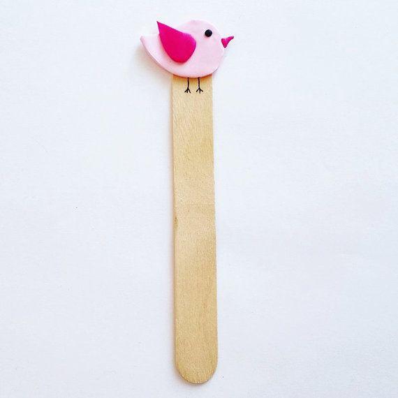 Segnalibri con animali bomboniera - uccellino, segnalibro, bookmark, fimo, bomboniera, bomboniere, favors, comunione, battesimo