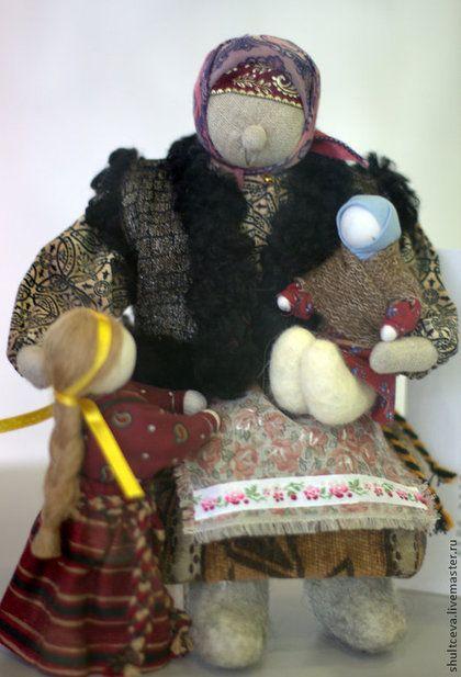 """Коллекционная кукла """"Зима.Бабушкины сказки"""" - интерьерная кукла,коллекционная кукла"""