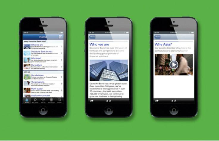Deutsche Bank mobile and tablet app.