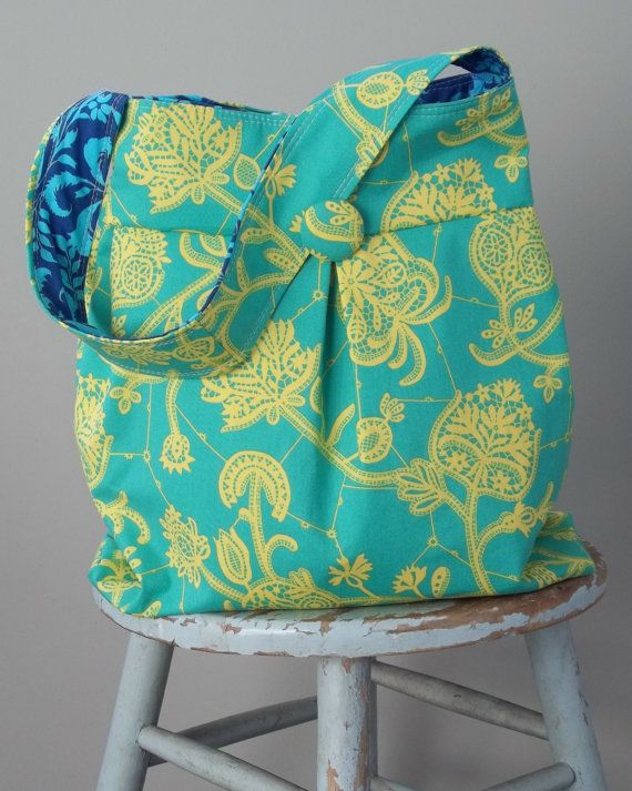 Amy Butler Purse Tote Large Reversible by retrofied on Etsy, $48.00