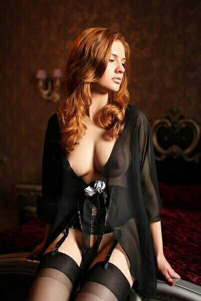 image Sexy redhead with proof