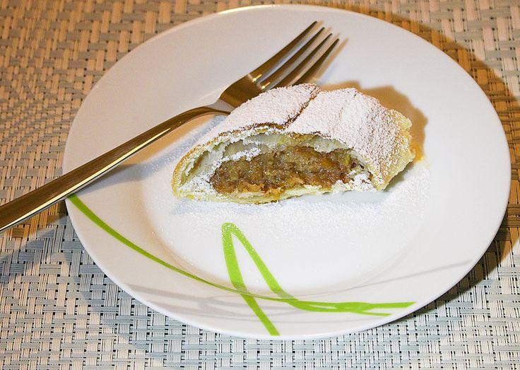 Jablečný štrúdl recepty česky