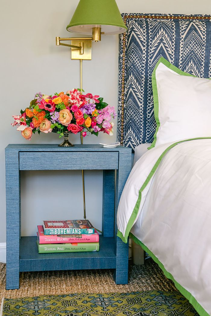 The Pink Pagoda: Blue and White Monday: One Room Challenge Bedroom Project by The Pursuit of Style