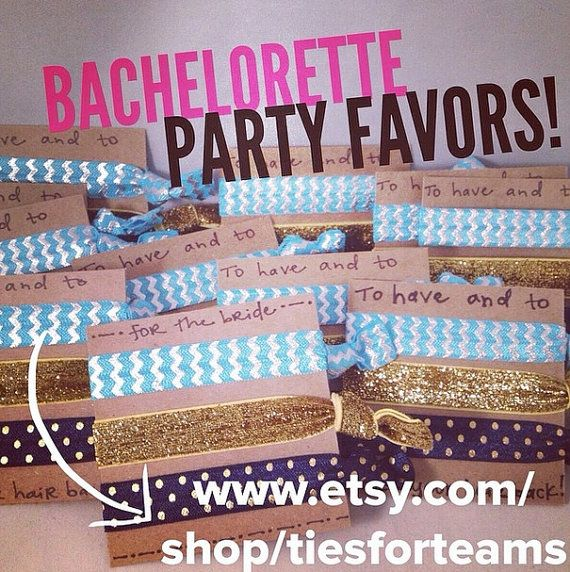 Bachelorette Party Favors Girls Weekend Gifts by tiesforteams
