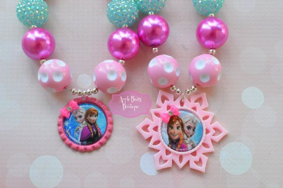 Pink Bow Snowflake Frozen Sisters Disney by AppleBearyBowtique, $17.00