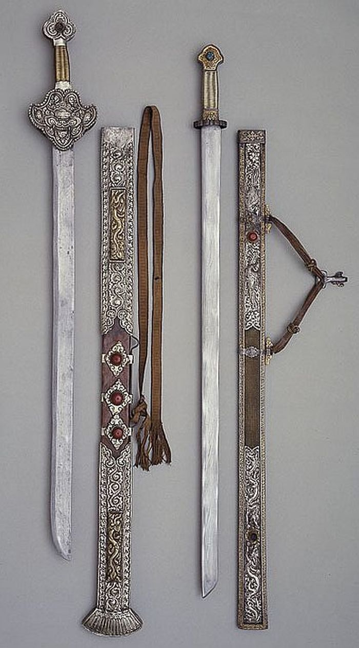 Sword and scabbard Dated: 18th century Culture: Tibetan