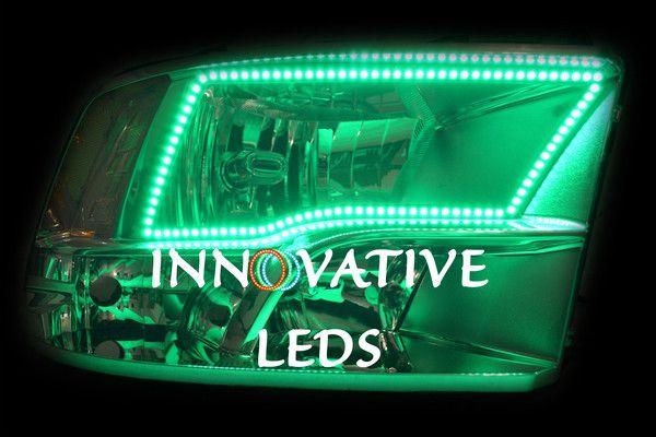 2009-2015 Dodge Ram 1500, 2500, 3500 Quad Headlights with ColorNova RGB Halos.