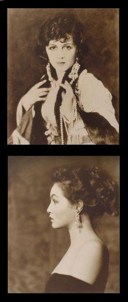 Ziegfield Girl Helen Jesmer c 1920 and daughter Julie Newmar
