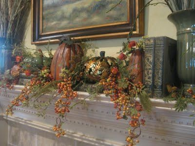 This is a beautiful mantle decoration....Kristen's Creations: Fall Mantle