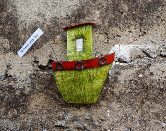 Wall Art Paper Mache Boat Paper Wall Hanging Wall by irineART