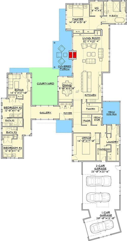 Ultra Modern Farmhouse with Dog Run - 54228HU | Architectural Designs - House Plans