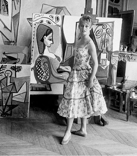 @Who What Wear - Pablo Picasso paintings and ballet flats, say no more. Year: 1956