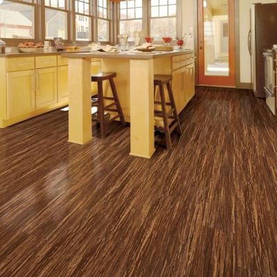 Home Legend Embossed Makena Bamboo 10 Mm Thick X 7 9/16 In. Wide X 47 3/4  In. Length Laminate Flooring (20.06 Sq. Ft. / Case), Dark