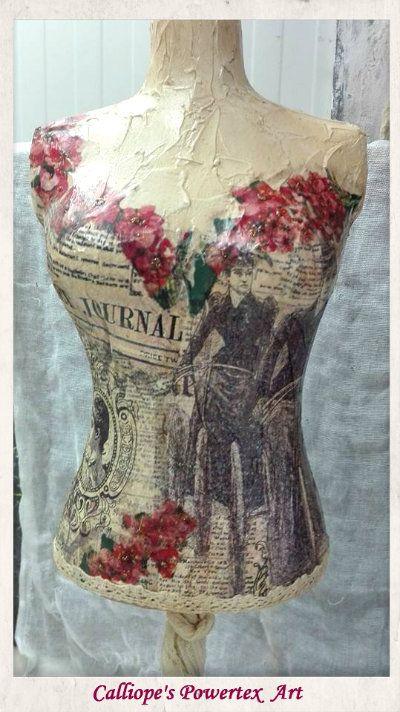 Γυναικείο μπούστο 40cm | Calliope's Powertex Art
