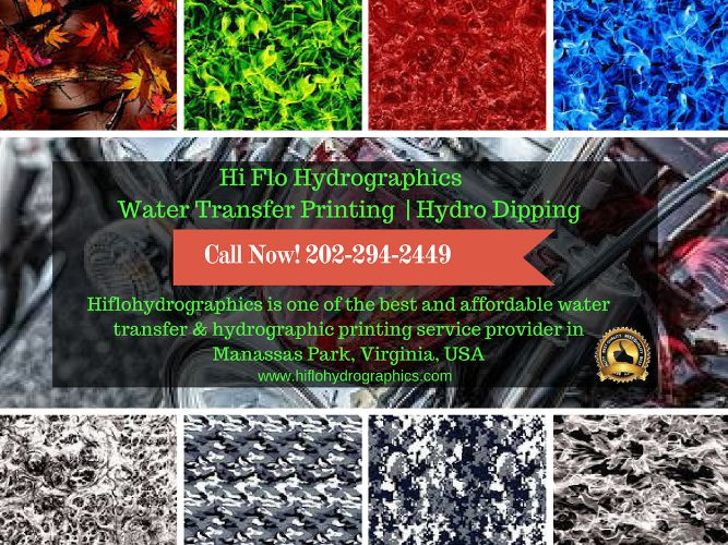 Hiflohydrographics is one of the best and affordable water transfer &  hydrographic printing service provider in Manassas Park, Virginia, USA Call Now! 202-294-2449 #HydroDipping #WatertransferPrinting #Printing