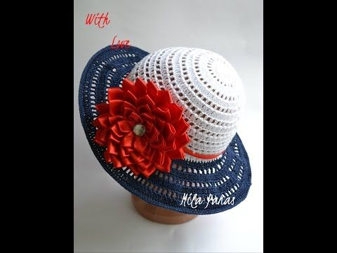 """Вяжем летнюю шляпку для леди """"Морские грезы"""" - YouTube"""