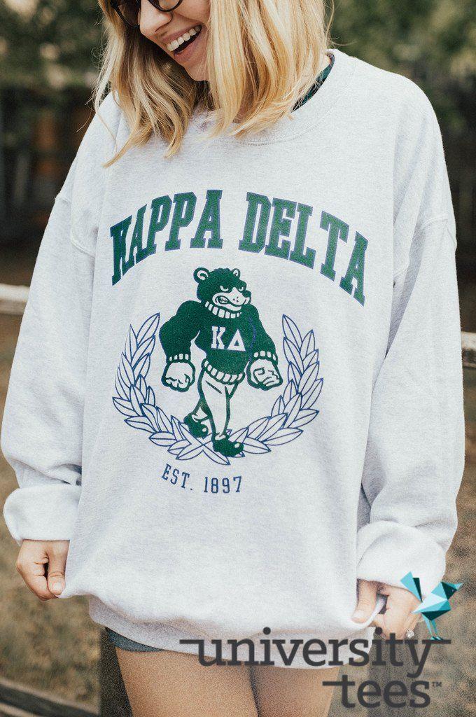 Kappa Delta cozy I made by University Tees I Chi Omega I apparel designs | custom greek apparel | sorority sweatshirt | fall sorority sweatshirts I greek life