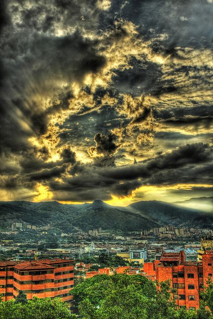 Medellin, Colombia.  Photo: Nick St. Marten Photography  Feeling a bit homesick, Medellin Sunsets always make me nostalgic.