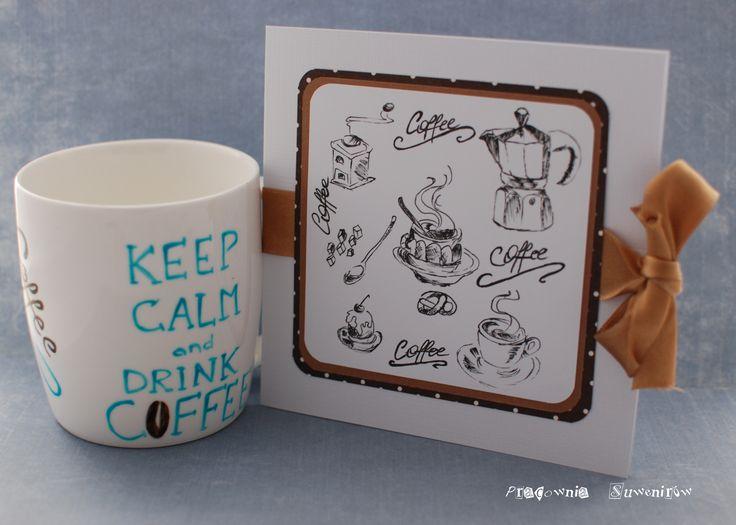 Kawa podana w takim kubeczku z pewnością będzie lepiej smakować. Dla Pana, który robi podobno najpyszniejszą kawę na świecie.   Kartka-grafika wykonana cienkopisami.