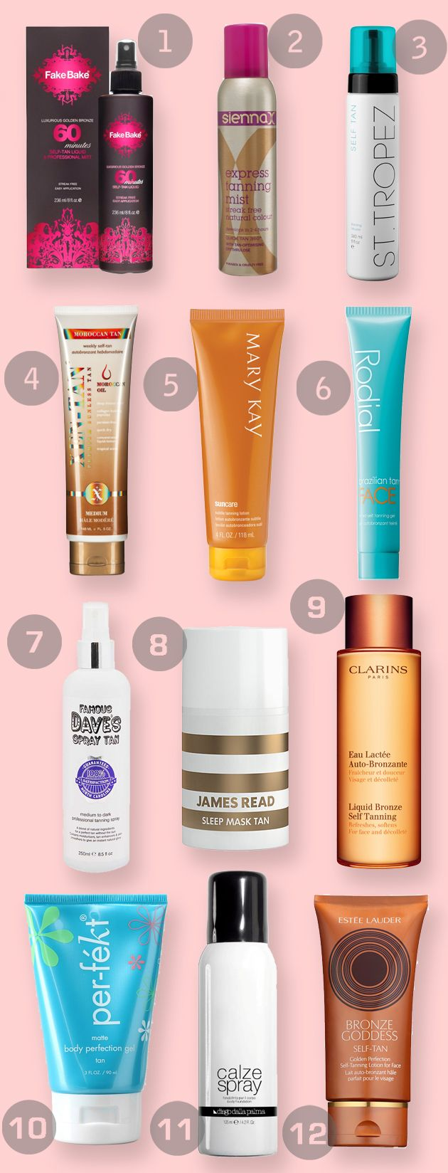 12 of the best fake tanning products