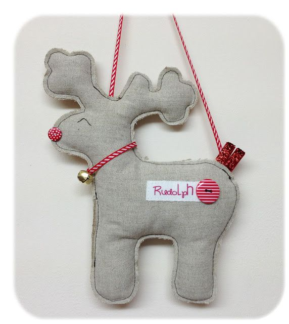 Stuffed Felt Raindeer Christmas Decoration