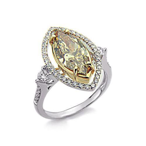 2.93 Karat gelber Diamantring aus 750er Weißgold gefertigt bei www.juwelierhausabt.de erhältlich.