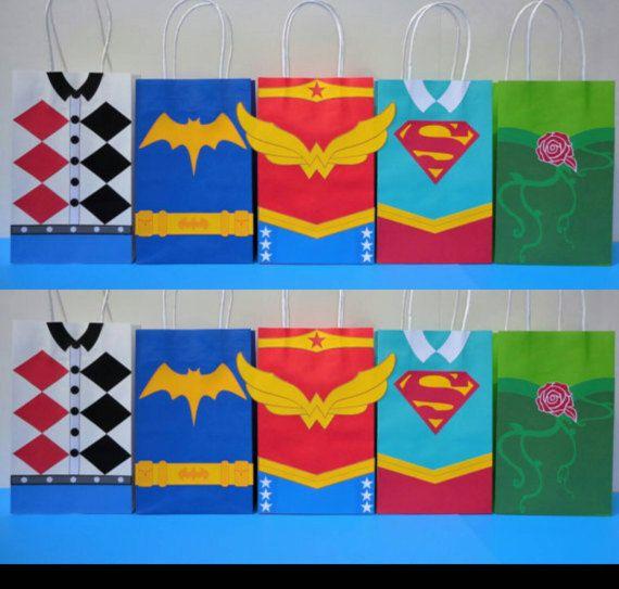 Instant Download DC SuperHero Girls Favor Bags - DC Super Hero Girls Birthday Party/ Goody/ Goodie/ Treat Bags- DC Superhero Girls Favors