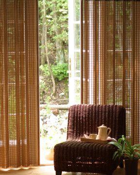 男前インテリアな部屋作りに欠かせない!おすすめリビングカーテン ... バンブーカーテン