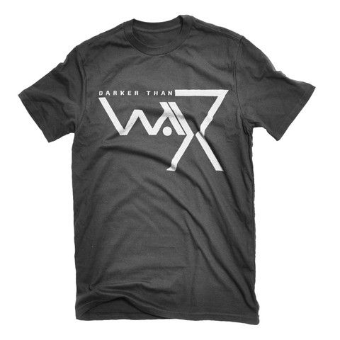 Darker Than Wax : Original Logo Black Tshirt
