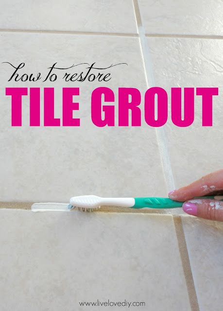 10 Home Improvement Ideas: how to make the most of what you already have (like the secret to restoring your dirty tile grout!) This is so great!