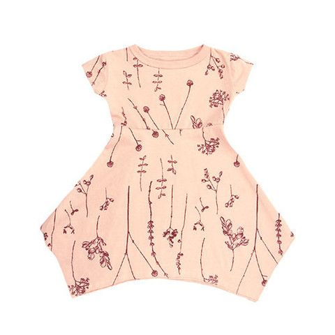 bookhou for mini mioche short sleeve hanky dress - mini mioche - organic infant clothing and kids clothes - made in Canada