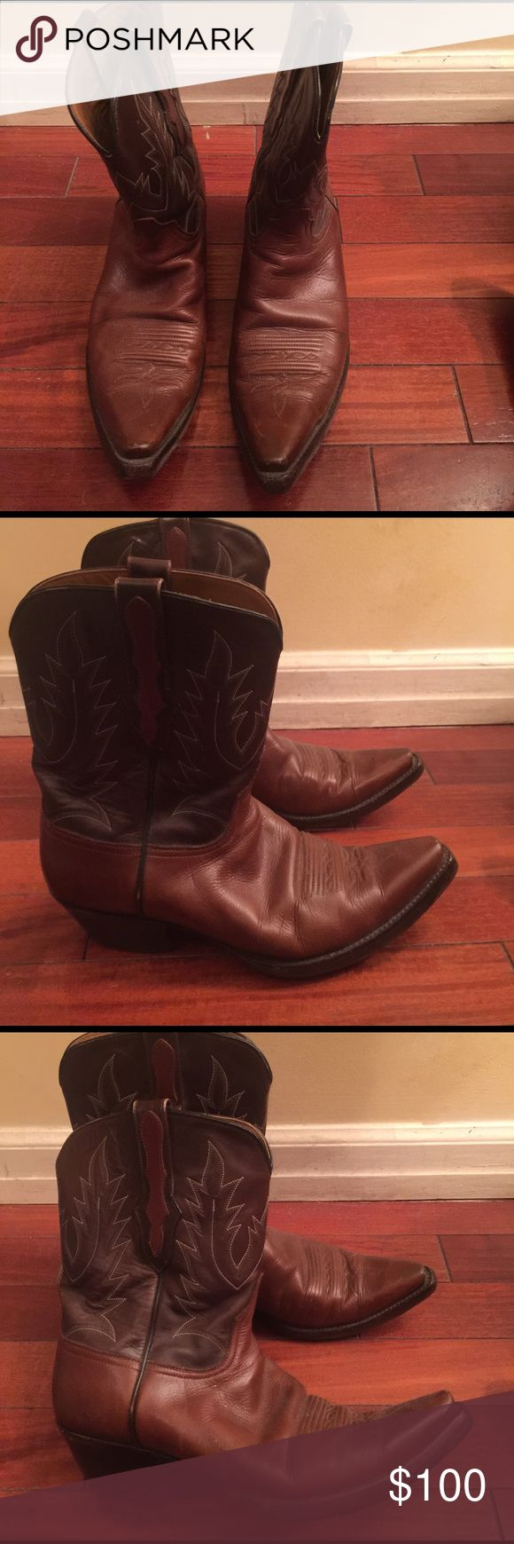Billy Martin Cowboy boots Billy Martin brown leather cowboy boots. Billy Martin Shoes