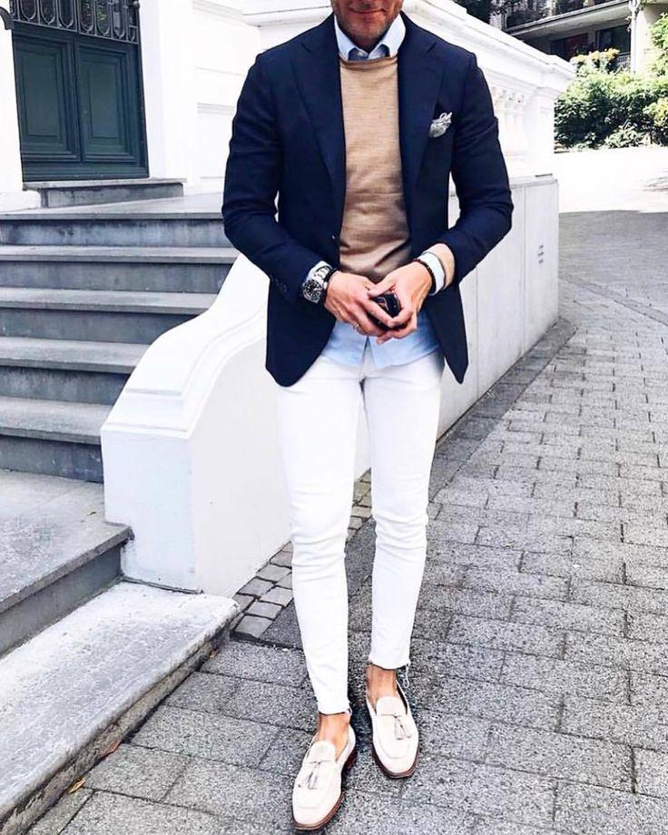 Découvrez les détails qui font la différence des meilleurs Street Style, des personnes uniques avec beaucoup de style | Style vestimentaire homme in 2019 | Blazer outfits men, Blue blazer outfit men, Fashion pants