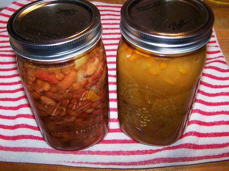 Pressure canning homemade soups mmmm!