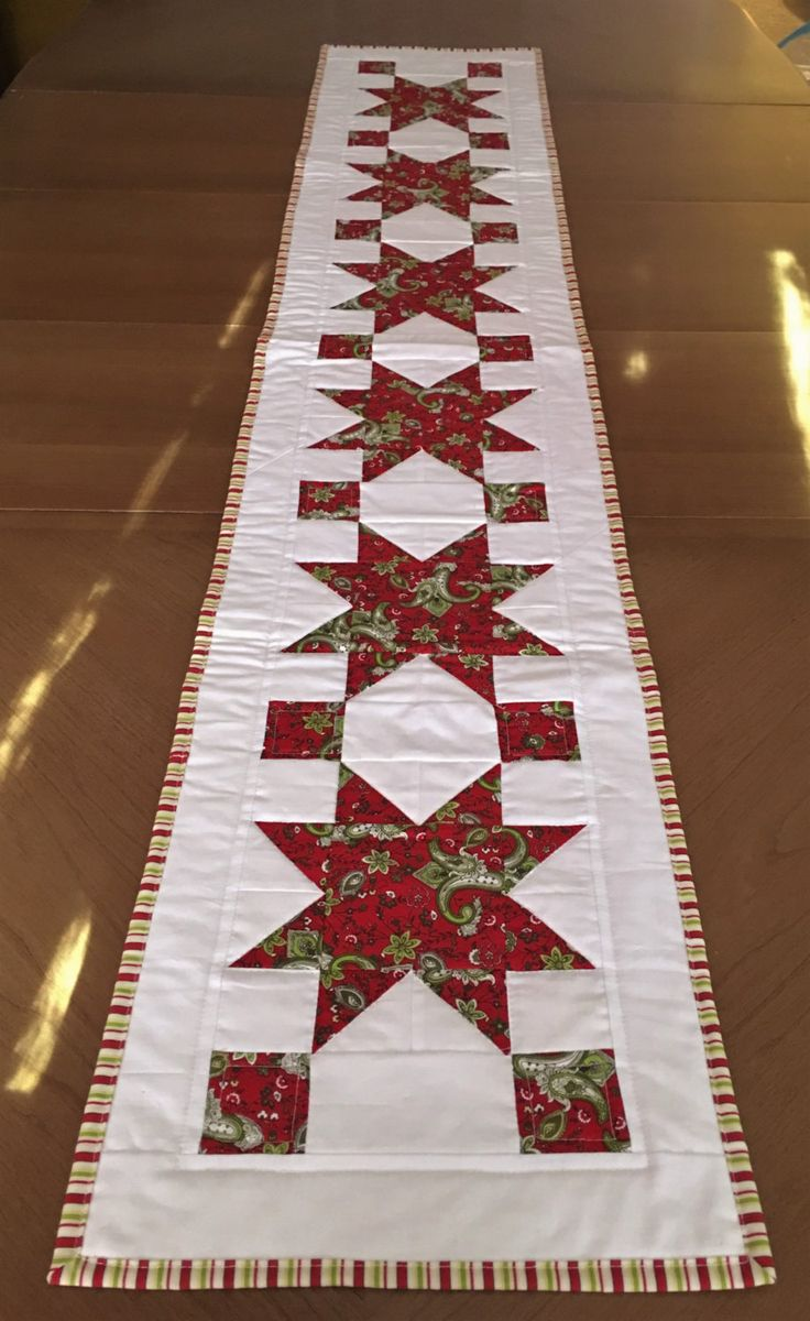 quilted christmas table runner xmas table runner holiday table runner star table runner
