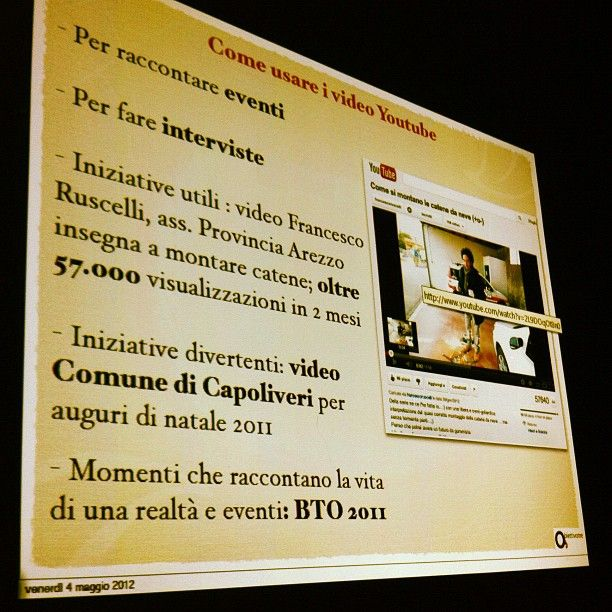 Corso Uffico Stampa e web 2.0: come usare video di Youtube
