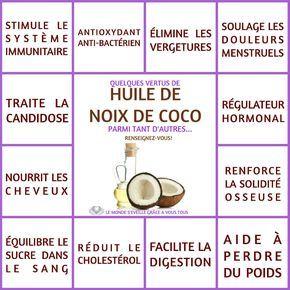 Les Bienfaits de l'huile de Coco   HUILE DE COCO Le Monde s'Eveille Grâce à Nous Tous ♥