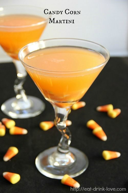 Candy Corn Martini.   Very awesome, and you really don't have to buy anything special for it. You can make your own Candy Corn Vodka.