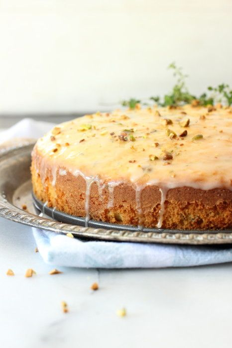 Orange Thyme and Pistachio Butter Cake | Foodness Gracious